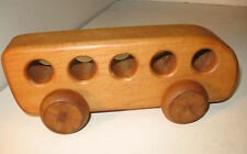 Rare Old Vintage Wood School Bus Wooden Toy 1975 Pfiefer Toys