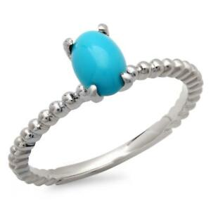 Certified 1.75cttw Turquoise 14KT White Gold Ring