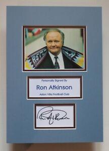 RON ATKINSON Aston Villa HAND SIGNED A4 Autograph Photo Mount Display COA