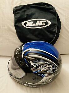 HJC CS-(Youth Size) L/XL Full Face Snowmobile Helmet Hellion Blue-DOT