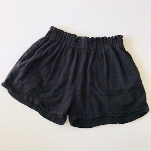 Saint Helena Black Relaxed Beach Shorts Size XL 100% Cotton