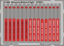 Eduard Accessories 32886 - 1:32 Remove Before Flight Steel - Ätzsatz - Neu