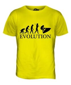 Jetski Evolution Of Man Parte Superior el Hombre Camiseta Tee Regalo Jet Ski
