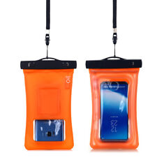 for iPhone 6s 7 Plus Samsung S8 Waterproof Underwater Photo Case Dry Bag Pouch for LG PHONES Orange-clear