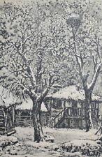 1987 Winter landscape print signed