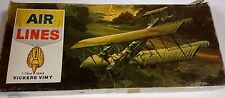 REALLY NICE AIR LINES 1/72 SCALE VICKERS VIMY PLASTIC MODEL AIRPLANE !!