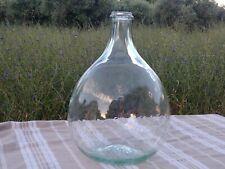 Ancienne petite Bonbonne * Dame Jeanne * Verre bullé 5 litres (n°53)