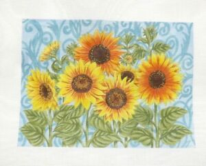 Love You More / Elena Vladykina Sunflower Medley Handpainted Needlepoint Canvas