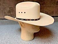Resistol 8x Shantung Panama Self-Conforming Long Oval Cowboy Western Hat 7 1/8.