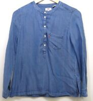 New Levi's Womens #22750 Medium Chambray Blue Long Sleeve Blouse Shirt Sz XS