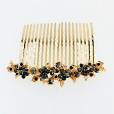 USA Hair Comb Hairpin use Swarovski Crystal Elegant Wedding Bridal Black C10