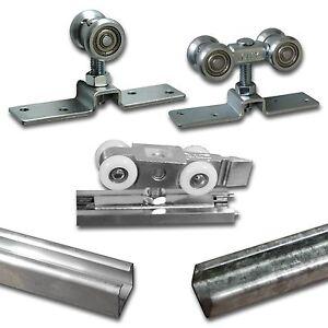 Schiebetürsystem Laufschiene Laufprofil Türbeschlag Rollenwagen Montagesatz