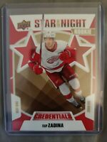 2019-20 UD Credentials 2ND STAR OF THE NIGHT RC Filip Zadina Red Wings #2S-08
