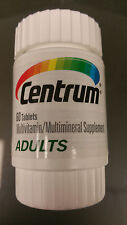 Centrum Multivitamin/Multimineral Supplement Adult 60 tablets New
