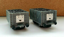 Vintage 1990 Thomas & Friends ERTL x2 Troublesome Train Trucks Pair Lot Plastic