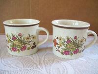 Royal Doulton Lambethware made in England Gaiety 2 coffee tea mug cups floral