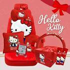 Hello Kitty Auto Accessory Set Kitty Red Car Seats 10 Piece Gift Set