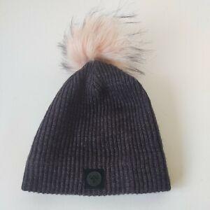 HummelSize 6-12 Months Infant Beanie Winter Knit Hat Baby Infant Top Knot Cap