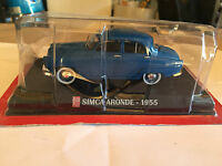 "DIE CAST "" SIMCA ARONDE - 1955 "" SCALA 1/43 AUTO PLUS + BOX 1"