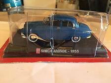"DIE CAST "" SIMCA ARONDE - 1955 "" SCALA 1/43 AUTO PLUS + BOX 1"