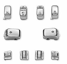 Hand Control Switch Housing Button Cap Chrome for Harley Electra Glide Road King