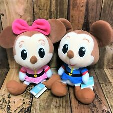 Disney baby × Gundam Plush Mickey Mouse baby & Minnie Mouse baby