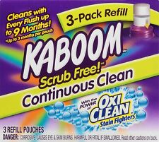 Kaboom Scrub Free OxiClean 3-Pack Refill Toilet Disinfectant Refillable Bleach