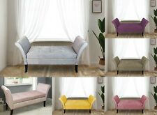 Windsor Easy to Assemble Velvet Window Seat Ottoman Storage Bed End Sofa