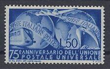 Italia - 1949 UPU 772 ** - ferrocarril avión barco mercante-Train ship Airplane