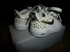 Nike Force 1 One Baby Infant Shoe Gold 25th Anniversary Star NIB Crib Toddler 2