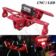 CNC License Plate Bracket Fender Eliminator LED For HONDA SUZUKI YAMAHA KAWASAKI