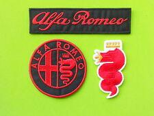 ALFA ROMEO PATCH KIT 3 TOPPE RICAMATE TERMOADESIVE