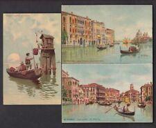 Italy VENICE VENEZIA small lot x5 Artist Art c1900/10s PPCs inc 4 u/b