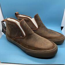 $150 Vans mid Slip Sf Mte Dachshund / Medium gum Leather Shoes Boot Style Sz. 9