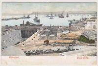 Gibraltar postcard - Gibraltar, Dock Works (A18)