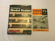 2x Vintage Model Train Books Starting in Scale 00 The World of Model Trains