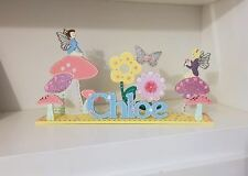 Fairy Bedroom Sign PERSONALISED Nursery Decoration Butterfly Baby Girl Name Sign