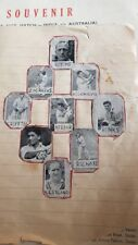 5 Old Vintage Small Size Cricketers Photos Pages from India 1964
