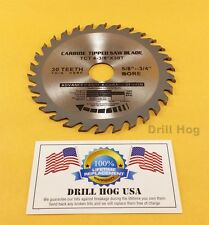 "4-3/8"" Carbide Blade 4-3/8 CARBIDE Tip Saw Blade TcT Wood Blade Drill Hog USA"