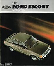 1982 Ford ESCORT Brochure / Pamphlet : GT,GL,GLX,L