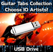 10 x ARTISTS COLLECTION MULTIBUY GUITAR TABS TABLATURE TUITION SOFTWARE USB