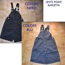 Salopette Cotone Levi's Corta Bermuda Larga Blu-Nera Taglia S-M-L-XL
