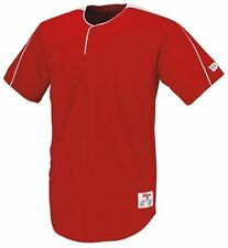 Wilson Baseball Jersey 1 Button Textreme SCARLET NEW Blank Adult Size S R4 W