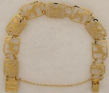 Welsh Terrier Jewelry Gold Bracelet by Touchstone
