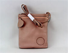 CARLOS FALCHI PALE PINK 100% LEATHER SHOULDER BAG SIDE POUCH NEW $295.00