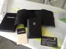 CHANEL Pelle Di Agnello Nero in Pelle Case iPhone-ORIGINALE (A65060)