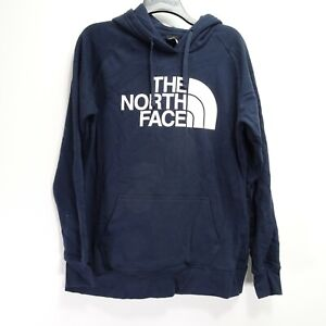 New North Face Womens Athletic Navy Half Dome Hiking Pullover Hoodie Jacket L