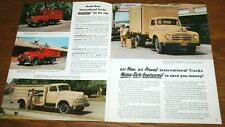 1950 International Harvester L 170 Trucks Colorful Advertising Sales Brochure