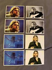 "Lot of 8 Nirvana KURT COBAIN 2"" x 2 3/4"" Band Photo Logo Stickers FAST! FREE!"