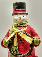 "Hallmark 2014 Cheerful Snowman 12.5"" Tabletop Decoration Limited Edition"